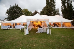Marquee dressed for wedding Peninsula Party Hire